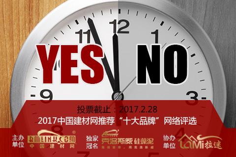 """2017中国建材网推荐""""十大品牌""""网络票选"""